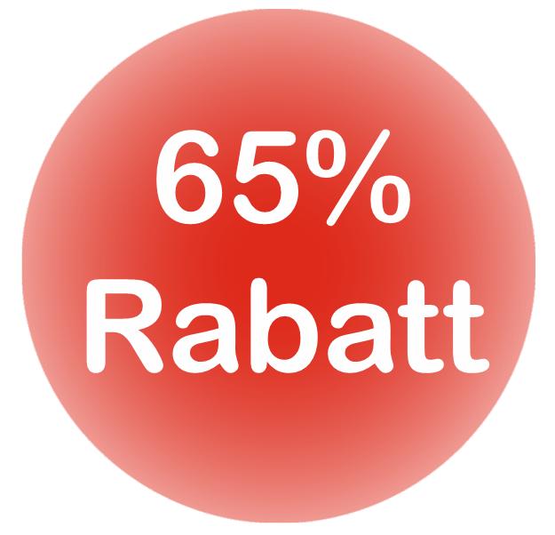 65% Rabatt für Schulen + Sportvereine