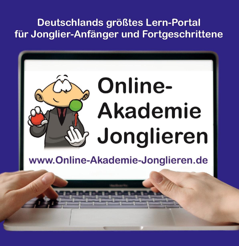 Titelseite Flyer Online-Akademie Jonglieren